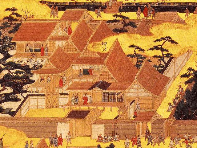 洛中洛外図屏風(上杉本)「細川殿」
