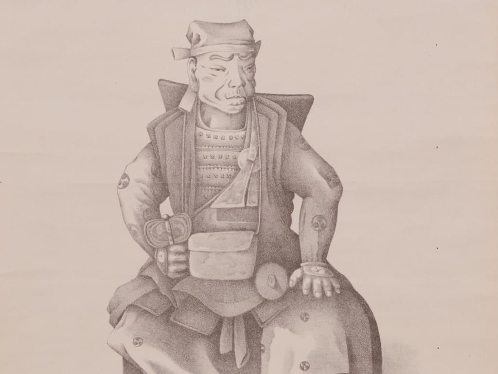 景春の祖父「長尾景仲」の肖像画