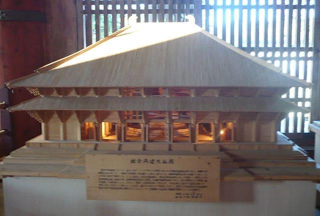 戦国当時の大仏殿の模型