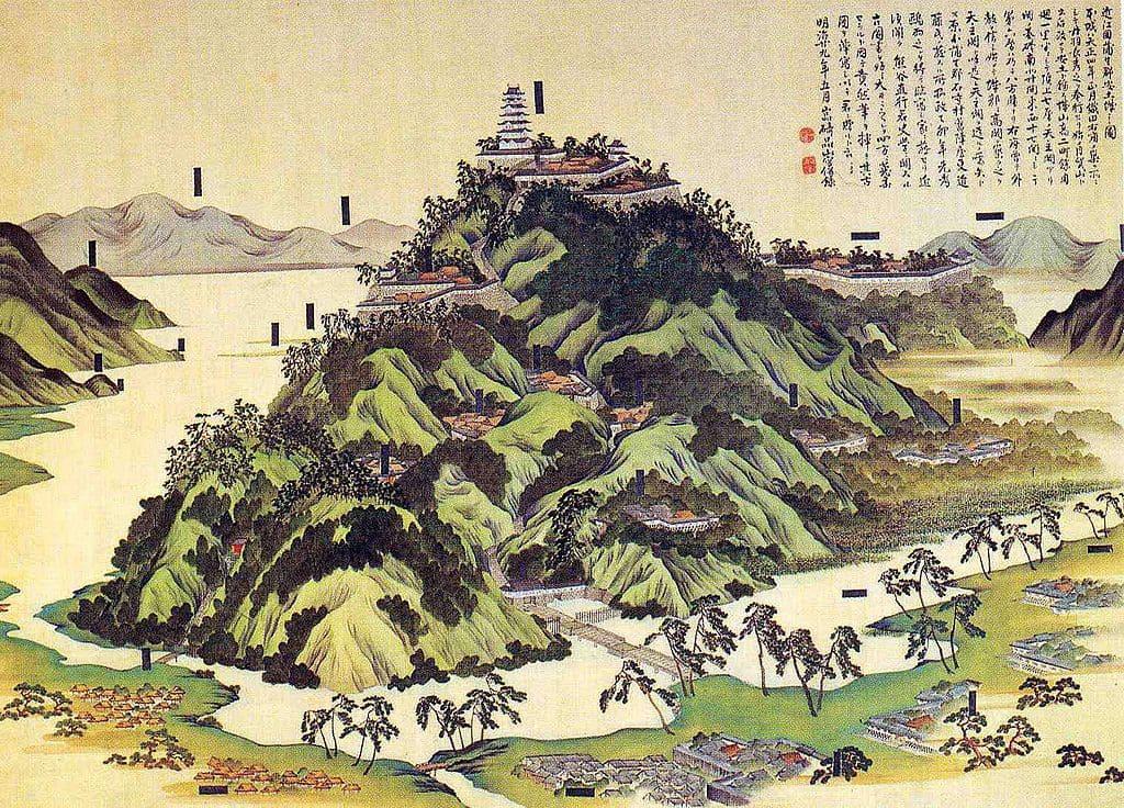 安土城図(大阪城天守閣所蔵)