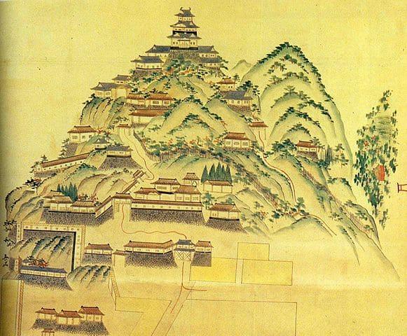 円徳寺所蔵の岐阜城図