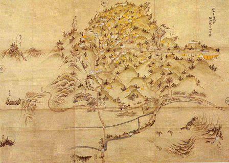 観音寺城跡(繖山観音山画図)