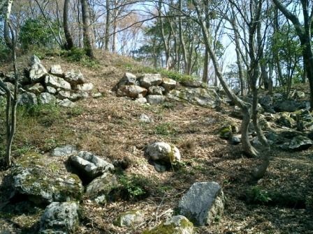 小谷城小丸と石垣