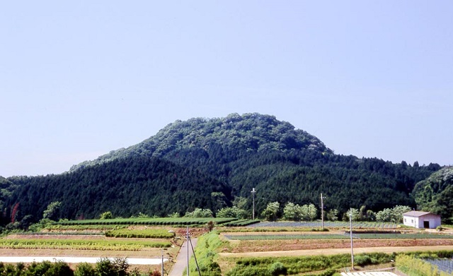 """信貴山城跡(出所:<a href=""""http://www.town.heguri.nara.jp/web/kankou/bunkazai/bunkazai04-33.html"""" target=""""_blank"""">平群町HP</a>)"""