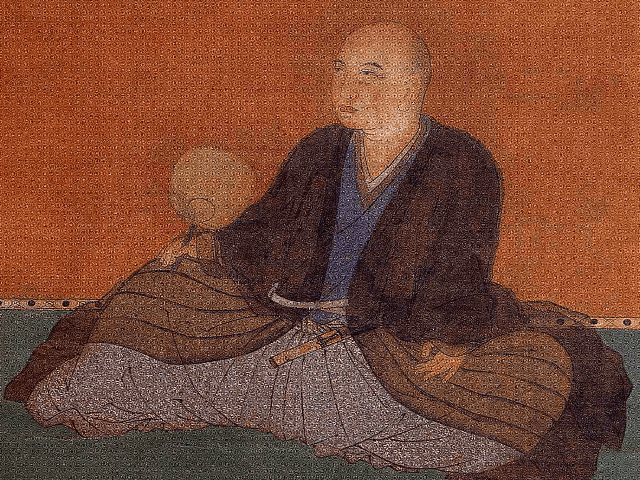 細川幽斎の肖像画(天授庵 所蔵)