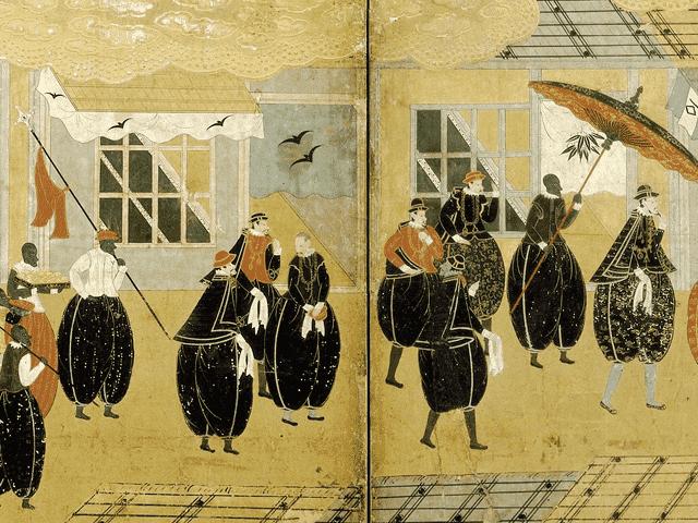『南蛮屏風』(アムステルダム国立美術館展示)の一部分