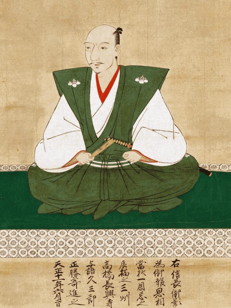 織田信長の肖像画(狩野元秀 画、長興寺蔵)