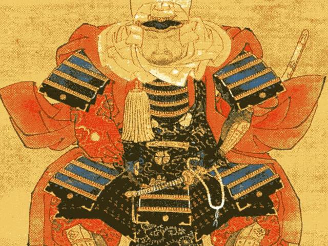 甲冑をつけた本願寺顕如の肖像画(石川県立博物館所蔵)