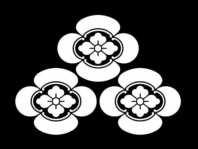 朝倉の家紋「三つ盛り木瓜」