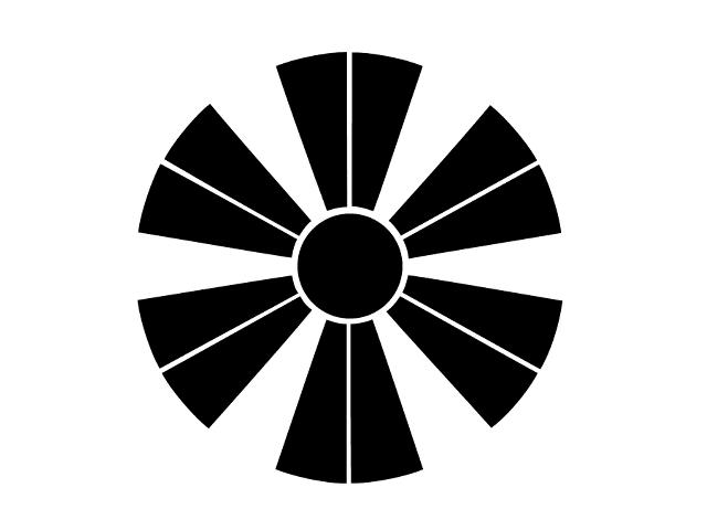 家紋「変わり十二日足」
