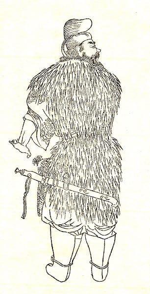物部守屋の肖像画(菊池容斎 筆)