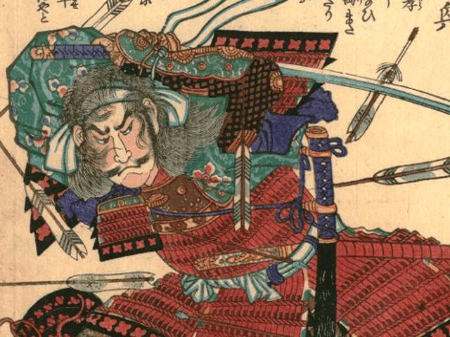 斎藤龍興の浮世絵(落合芳幾 画)