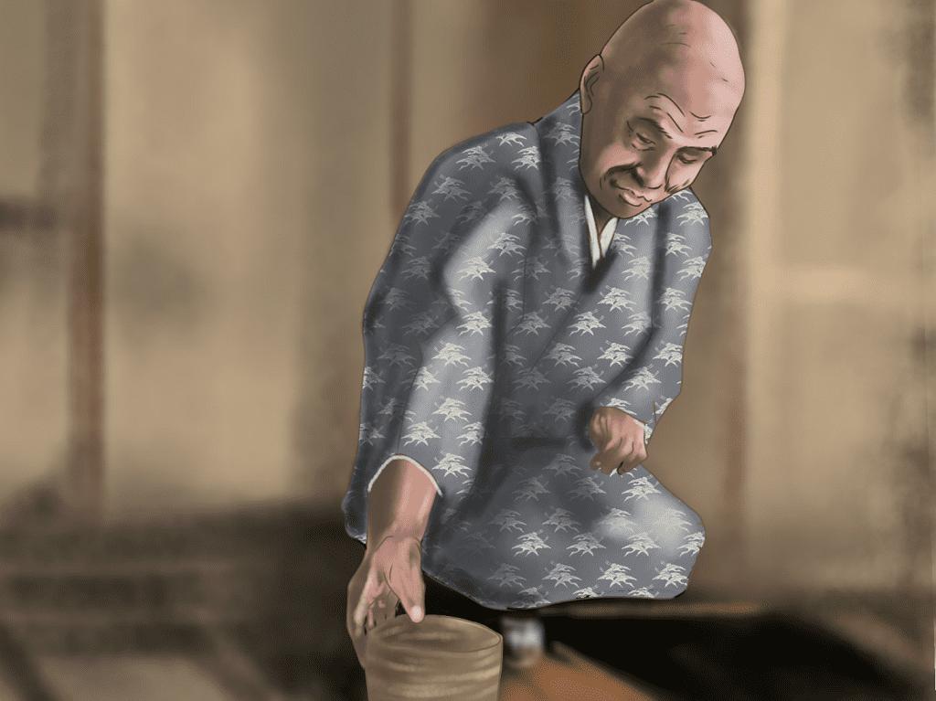 津田宗及のイラスト