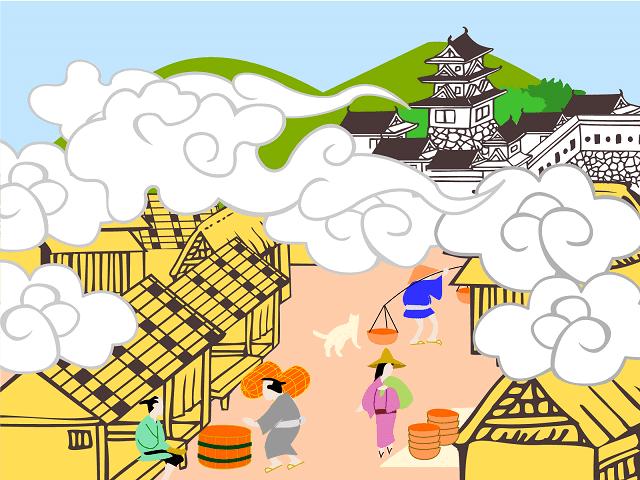 城下町のイラスト