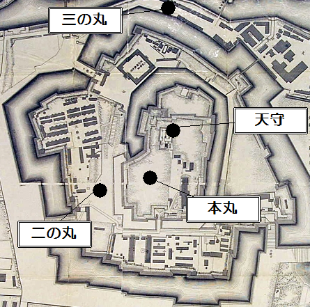 大阪城の縄張図
