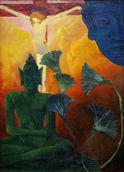 『キリストとブッダ』(フランスの画家、ポール・ランソン 作)