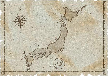 日本の古地図イメージ