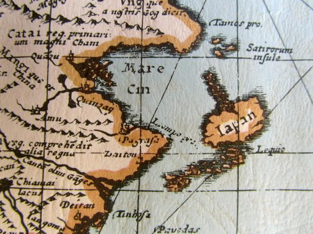 日本周辺の古地図イメージ