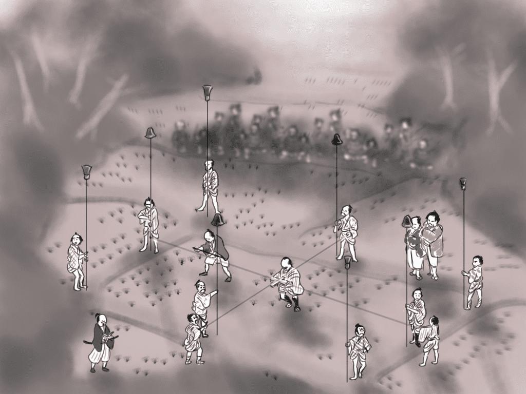 検地のイラスト