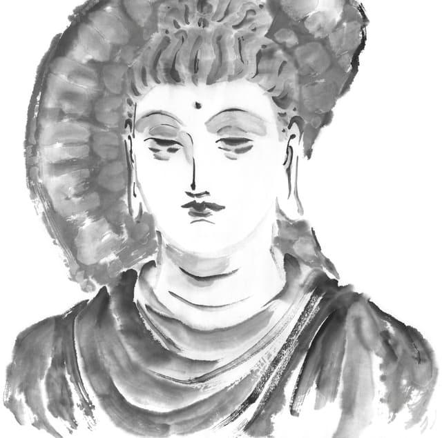 釈迦のイラスト