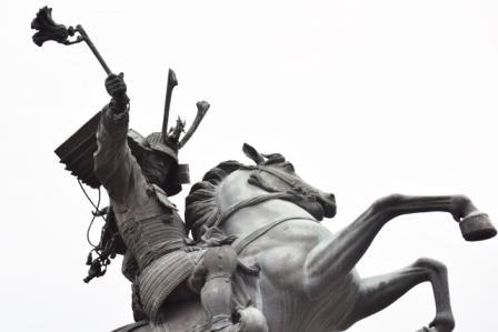 島津義弘の像