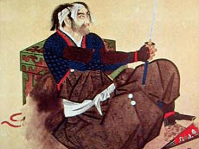 秋山虎繁の肖像画