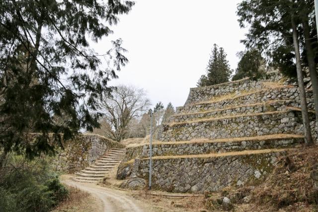 「六段壁」と呼ばれる石積みが美しい城は?
