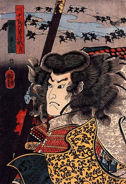 川中島合戦での原昌胤(歌川国芳 画)