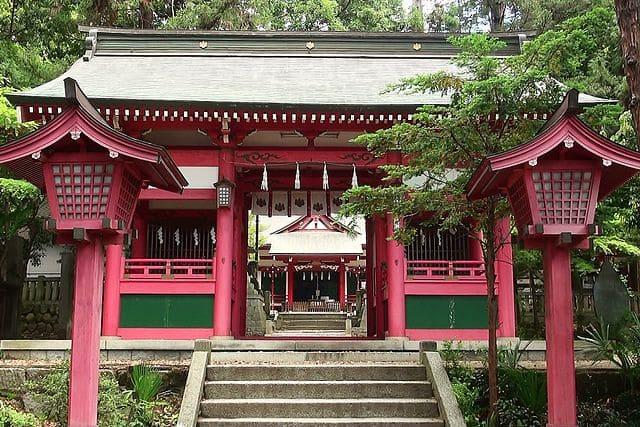 山梨県甲州市にある菅田天神社