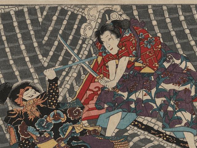 「教竜閣」(歌川国貞 作)