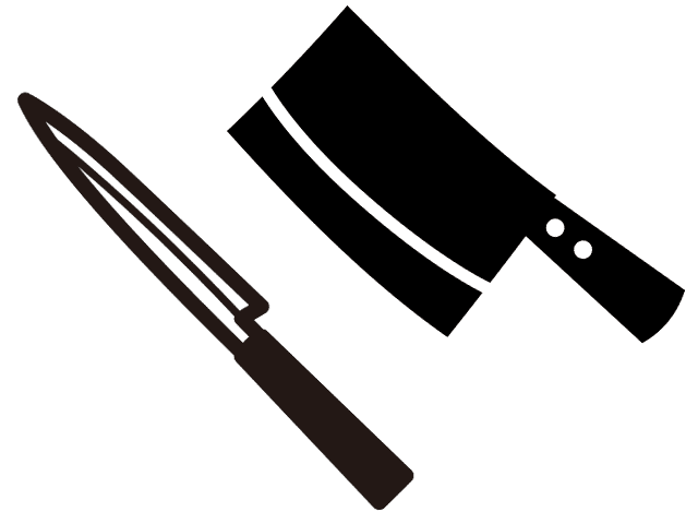 柳刃包丁と中華包丁