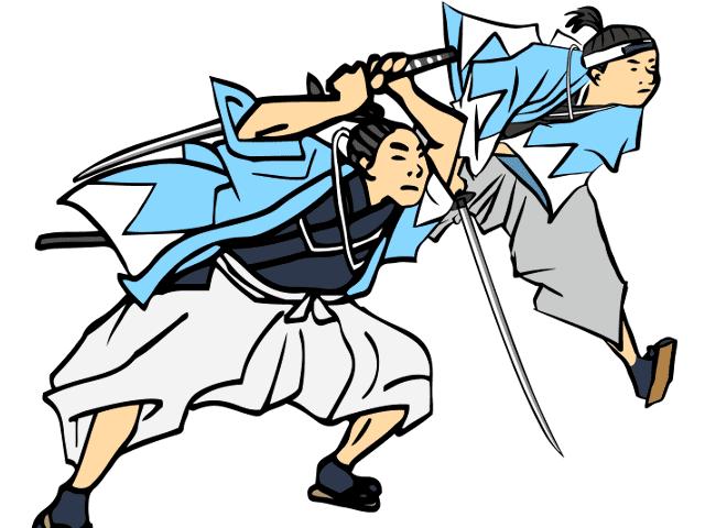 刀と侍のイラスト
