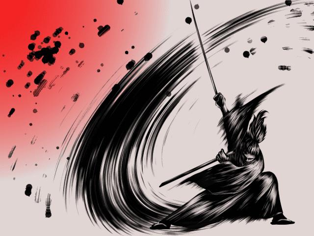 刀と侍のイラスト2