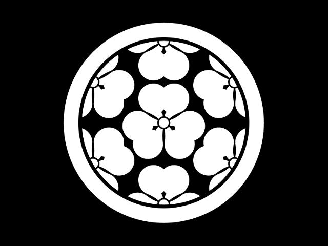 長宗我部氏の家紋「丸に七つ酢漿草」