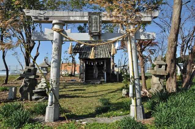 津野親忠の墓がある津野神社(高知県香美市土佐山田町)
