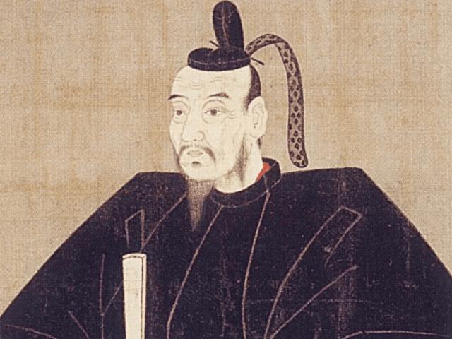 長宗我部元親の肖像画(秦神社 蔵)