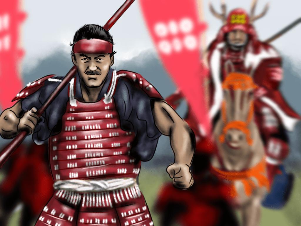 堀田作兵衛のイラスト